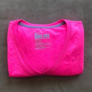 Nike Dri Fit LS V-Neck T-Shirt EUC XS